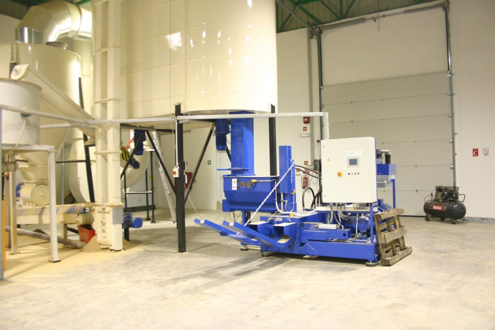 Линия брикетирования 800-1100  кг/ч (Тип брикета Nestro)