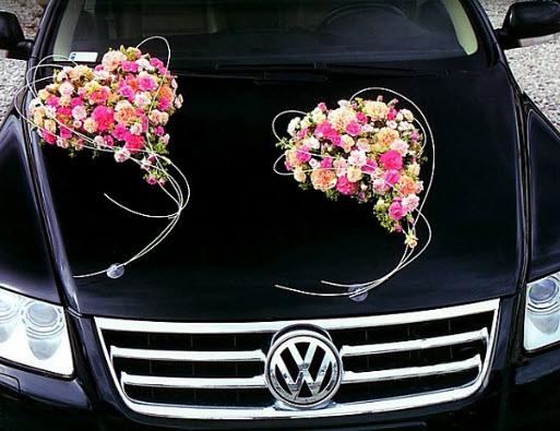 Украшения для украшения свадебной машины
