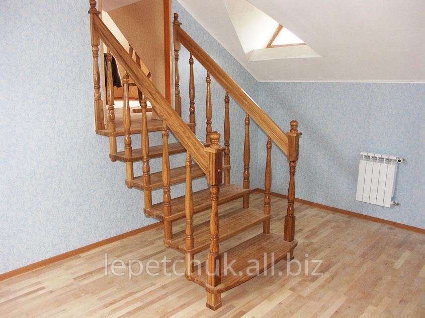 Купить Лестницы деревянные - из массива карпатской ели (смереки) и других пород