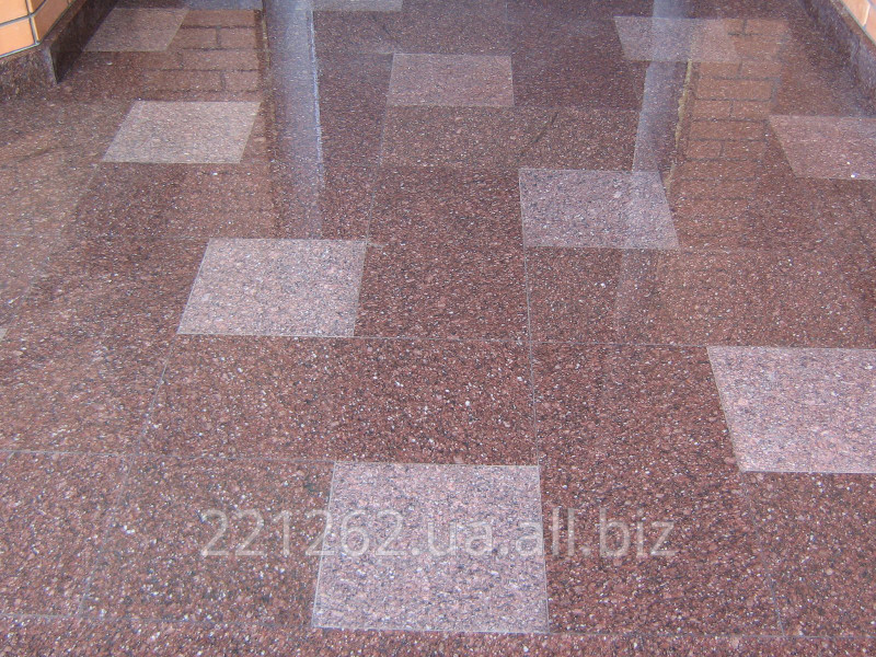Купить Плитка гранітна облицювальна термооброблена, Покостовське, світло-сірий, t=40 мм