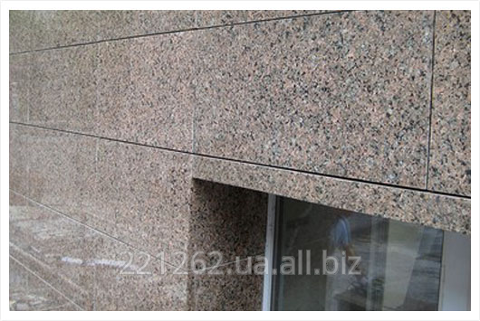 Купить Плитка гранітна облицювальна термооброблена, Васильківське, коричневий, t=50 мм