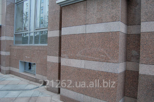 Купить Плитка гранітна облицювальна термооброблена, Покостовське, світло-сірий, t=50 мм