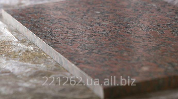 Купить Плитка гранітна облицювальна полірована, Лезниківське, червоний, t=40 мм