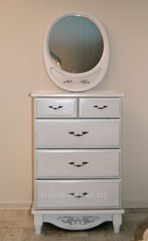 Купить Комод белый деревянный с зеркалом в Запорожье