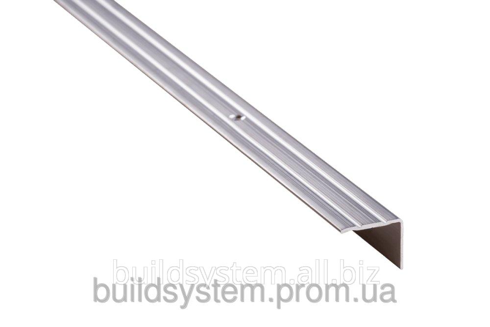 Купить Пороги алюминиевые 3А 0,9 метра серебро 23х18мм