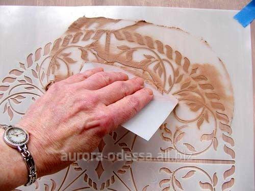 Узоры из декоративной штукатурки своими руками