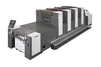 Листовые офсетные печатные машины Индустриального класса с печатными и впереди печатными цилиндрами двойного диаметра  SHINOHARA 66 формата А2 (508 x 660 мм), выпускаются в - 4; - 5 цветным комплектации.