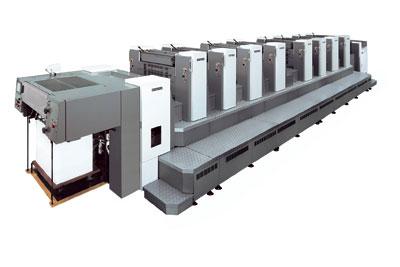 """Листовые офсетные печатные машины Индустриального класса SHINOHARA 79 формата В2 """"+"""" (585 x 790 мм), выпускаются в - 4; - 5; - 6 и - 8 цветным комплектации."""