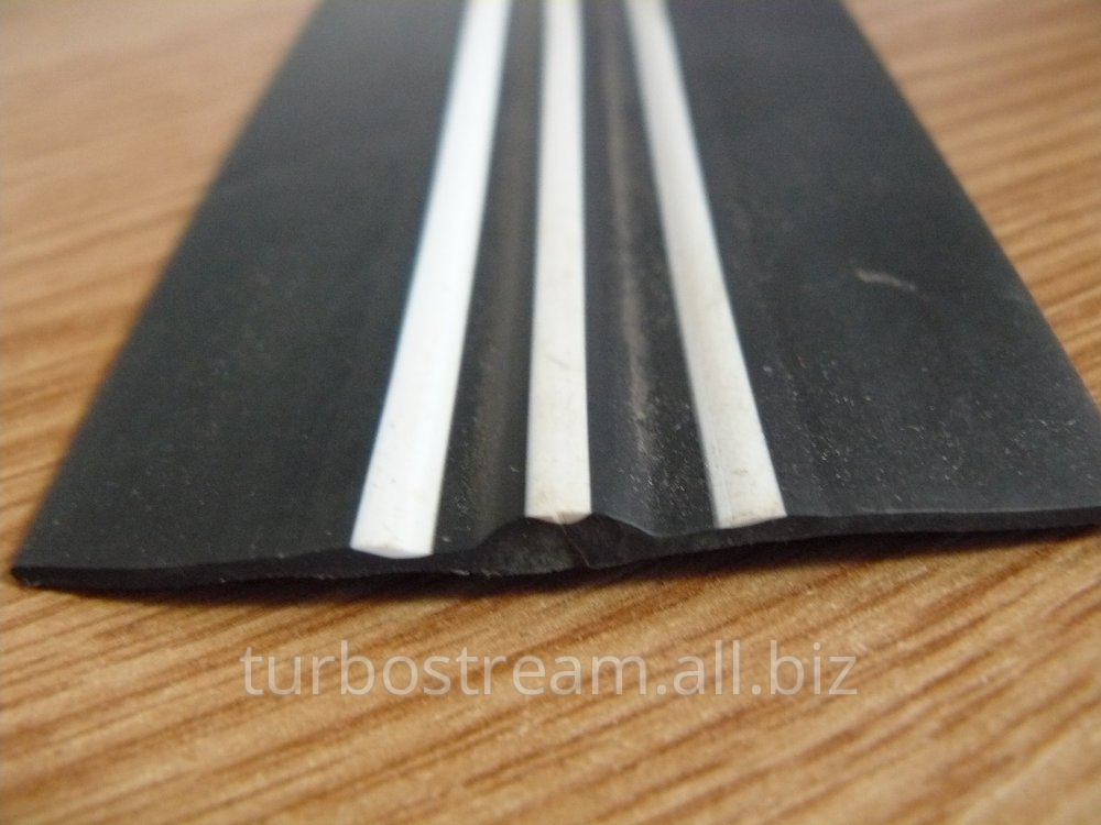 The free bar flat, width is 70 mm. with white strips.