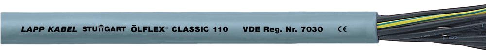 Контрольно-соединительный кабель OLFLEX CLASSIC 110 18G1 (LAPP Kabel) с цифровой маркировкой жил в оболочке из пластика ПВХ.