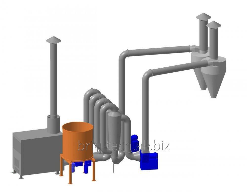 Сушилка аэродинамическая для органического сырья САД-0.6-1.2