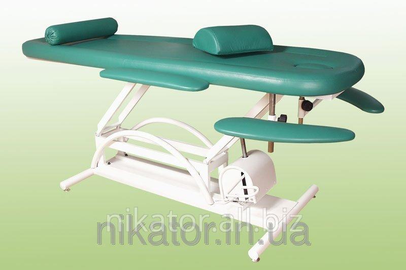 Кушетка КМ-3РГ массажная с гидравлическим регулятором высоты