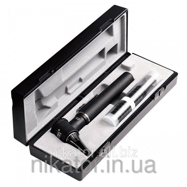 Отоскоп Riester e-scope® фиброоптический, LED 3,7 В черный в кейсе