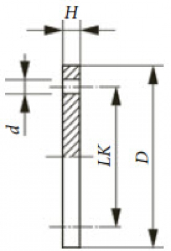 Глухой фланец PN 40, DIN 2527