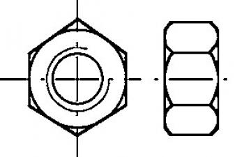 Гайка DIN 934