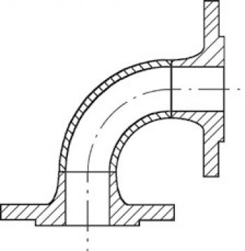 Трубоотвод сварной для распределительных вентилей