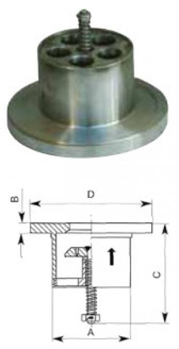 Скоростной клапан PN40, тип FAS-F, для монтажа между двумя фланцами