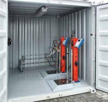 Универсальная установка для заправки бытовых баллонов в контейнерном исполнении