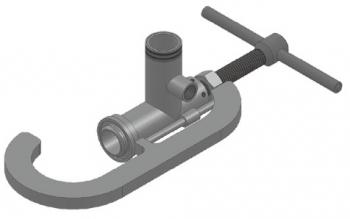 Наполнительная струбцина (FAS 25522) тип FAS-RKSW-III для подключения гибкого соединения (гибкие металлорукава, резинотканевые шланги высокого давления) к ж/д цистернам