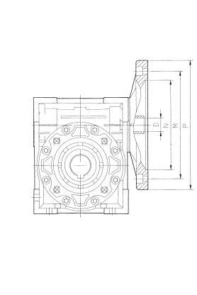 Редуктор NMRW 075 112B5/B14