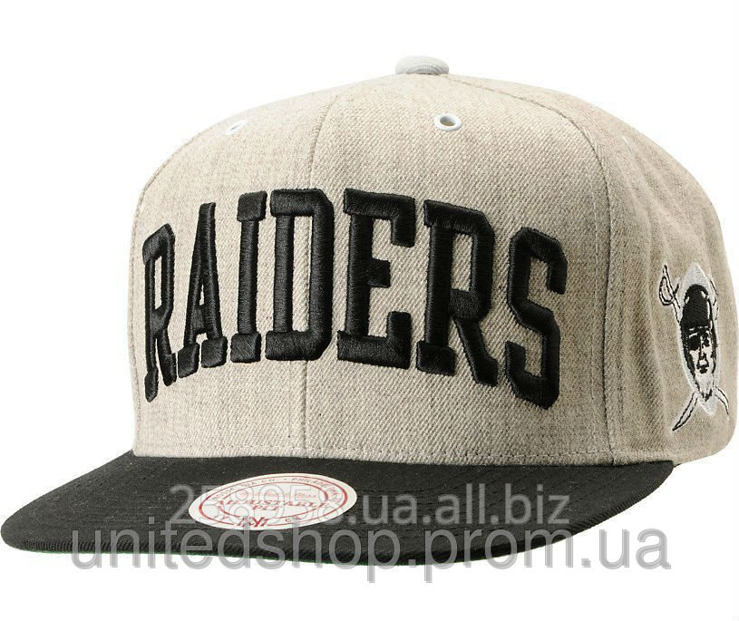 bc47427d8215 Кепка Mitchell and Ness - Oakland Raiders - Big Logo Classic Black/Dark  Pattern