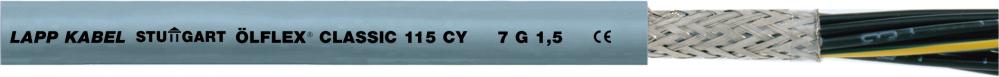 Кабель силовой и кабель управления OLFLEX CLASSIC 115 CY 4G1 (LAPP Kabel) экранированный с цифровой маркировкой жил в оболочке из пластика ПВХ.