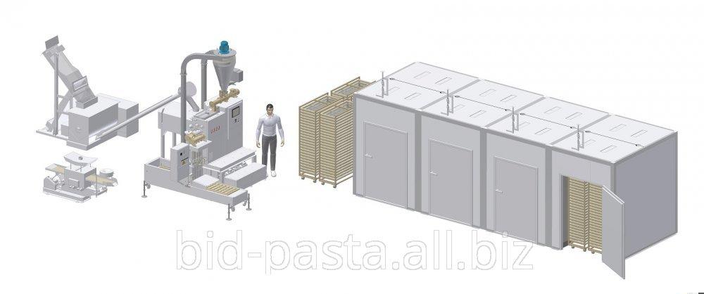 Универсальный комплекс для производства «Гнёзд» и короткорезанных макаронных изделий производительностью до 300 кг/ч