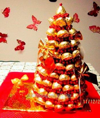 """Купить Букет из конфет """" Рождественская сказка"""""""