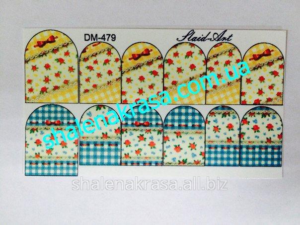 Купить Наклейка на ногти Sliders art DM - 479