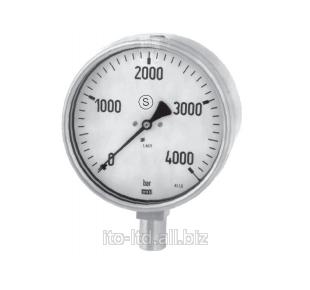 Купить Манометр с трубчатой пружиной (серия для измерений высокого давления, класс 1.0/класс 0.6) 222.30, 322.30