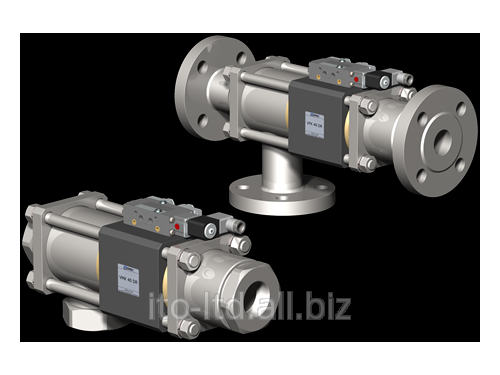 Купить 3/2 ходовый коаксиальный клапан с пневмоприводом VMK / VFK 40 DR