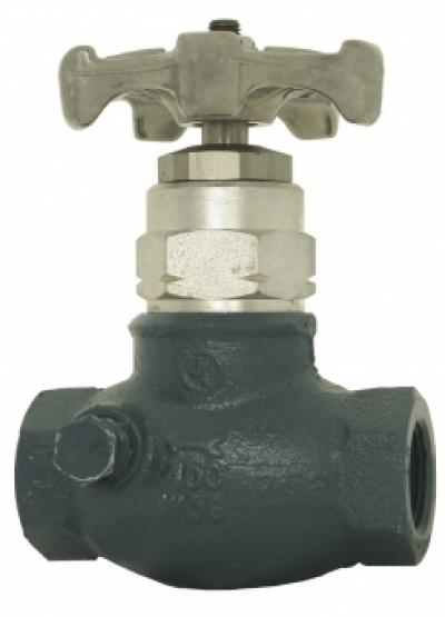 Проходной клапан PN25 с NPT-резьбой и мягкой прокладкой