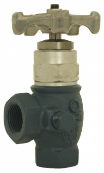 Угловой клапан PN25 с NPT-резьбой и мягкой прокладкой
