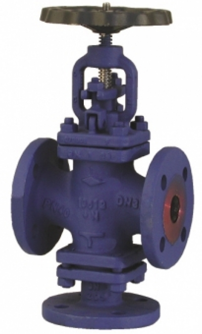 Запирающий клапан PN40 в 3-ходовом исполнении, с аттестатом 3.1.В EN 10 204
