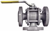 Шаровой клапан 3-ходовой тип FAS-KHF W3 PN40, полнопроходной