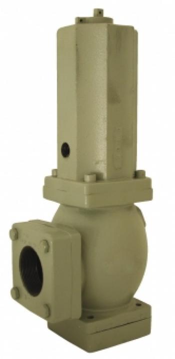 Байпасный клапан PN40, угловой формы, с NPT-внутренней резьбой, пружинная нагрузка