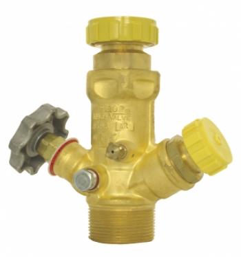 Мультиклапан PN25 для резервуаров хранения СУГ, латунный
