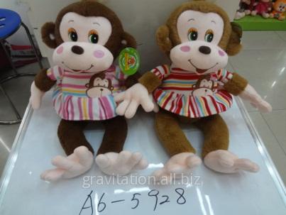 Игрушка мягкая обезьянка, модель MY-001, артикул A6-5928/45CM