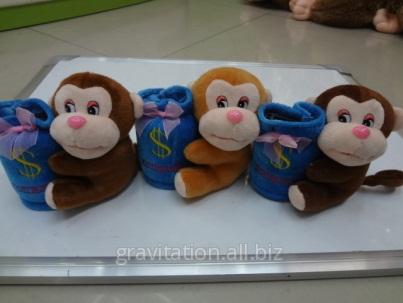 Игрушка мягкая обезьянка, модель MY-003, артикул AQ-2/12CM