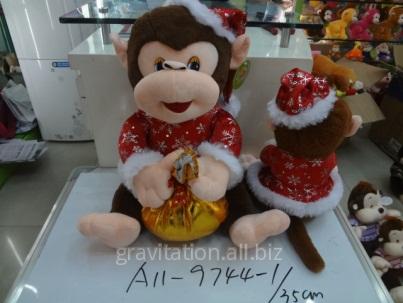 Игрушка мягкая обезьянка, модель MY-004, артикул A11-9744/35CM