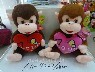 Игрушка мягкая обезьянка, модель MY-006, артикул A11-9727/28CM