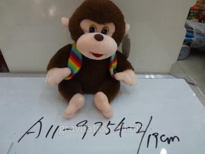 Игрушка мягкая обезьянка, модель MY-007, артикул A11-9754-2/19CM