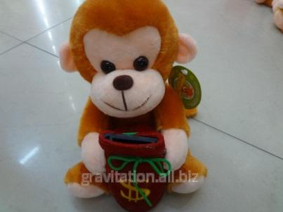 Игрушка мягкая обезьянка, модель MY-011, артикул AJ-9/21CM钱罐