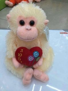 Игрушка мягкая обезьянка, модель MY-019