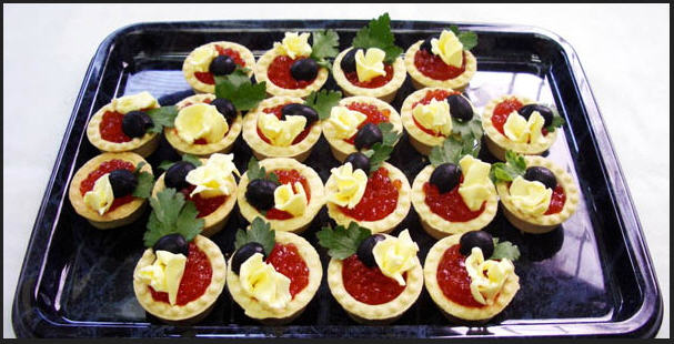 Buy Tartlets with red caviar