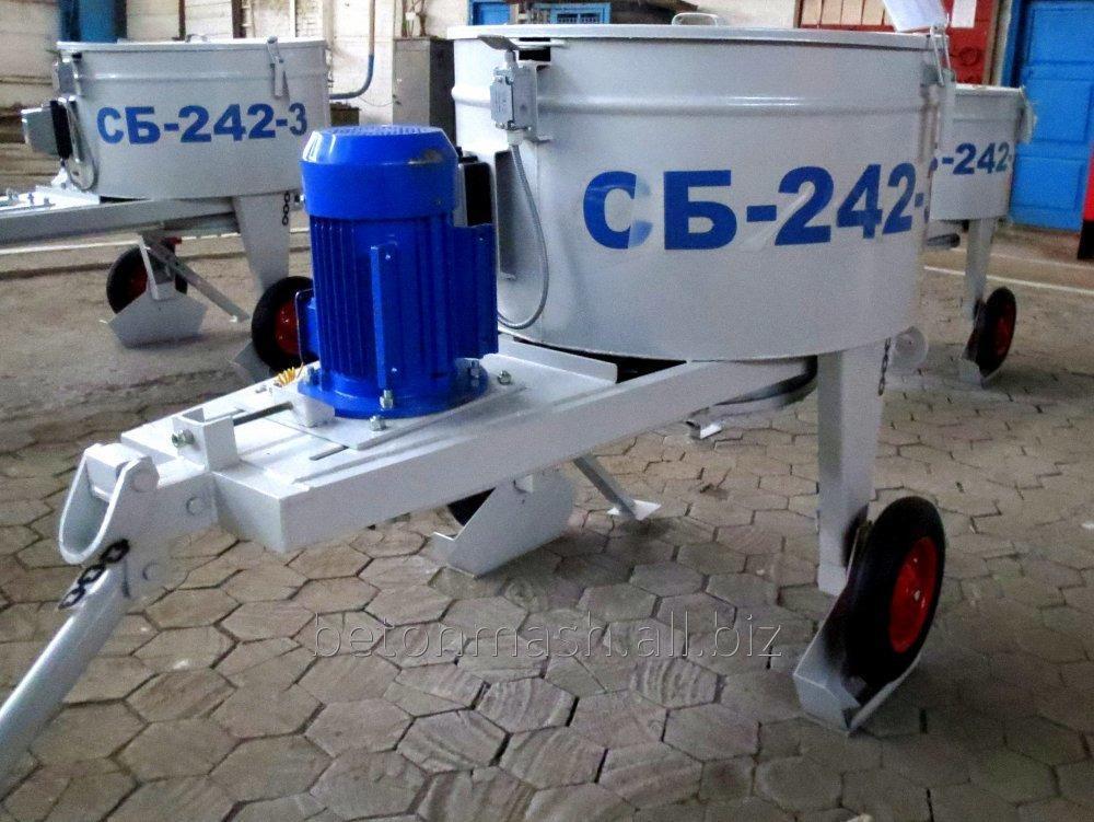 Купить Бетоносмеситель принудительного перемешивания СБ-242-3, объём 225 л