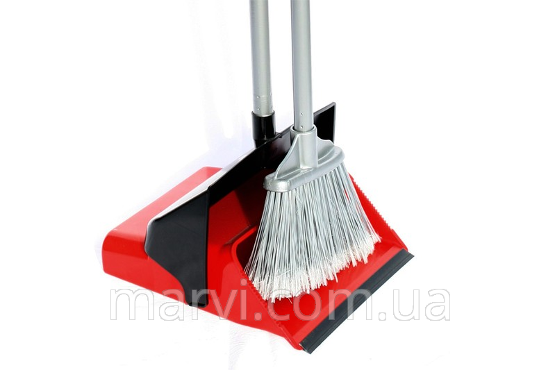 The broom and scoop for cleaning