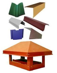 Купить Кровельные аксессуары - доборные элементы кровли: Колпак, зонт, флюгарка, дымник на дымоход, а также декоративные колпаки на столбы