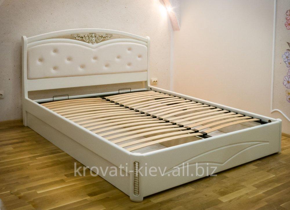 кровать белая анастасия из массива купить в киеве