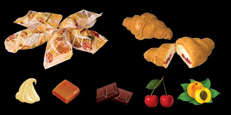Купить Круасан з начинкою абрикос ваг. 1,00 кг